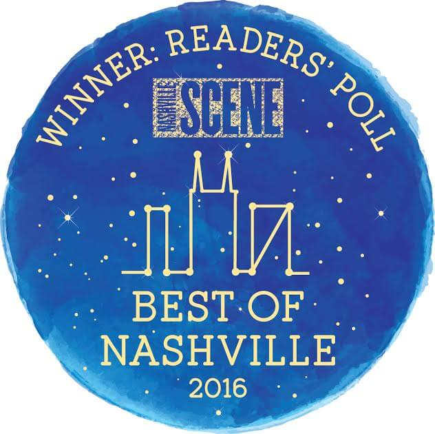 2016 1st place - Nashville Scene Best of Nashville 2016