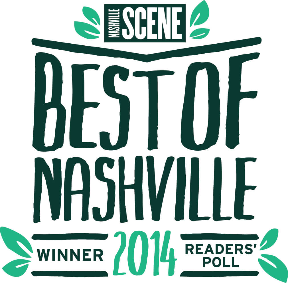 2014 1st place - Nashville Scene Best of Nashville 2014